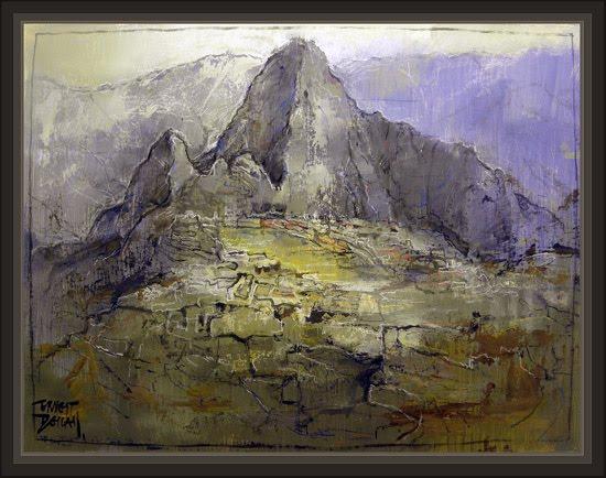 MACHU PICCHU-PERU-CUZCO-INCAS-ANUNNAKI-ANDES-NIBIRU-ZECHARIA SITCHIN-DIOSES-PINTURA-ERNEST DESCALS