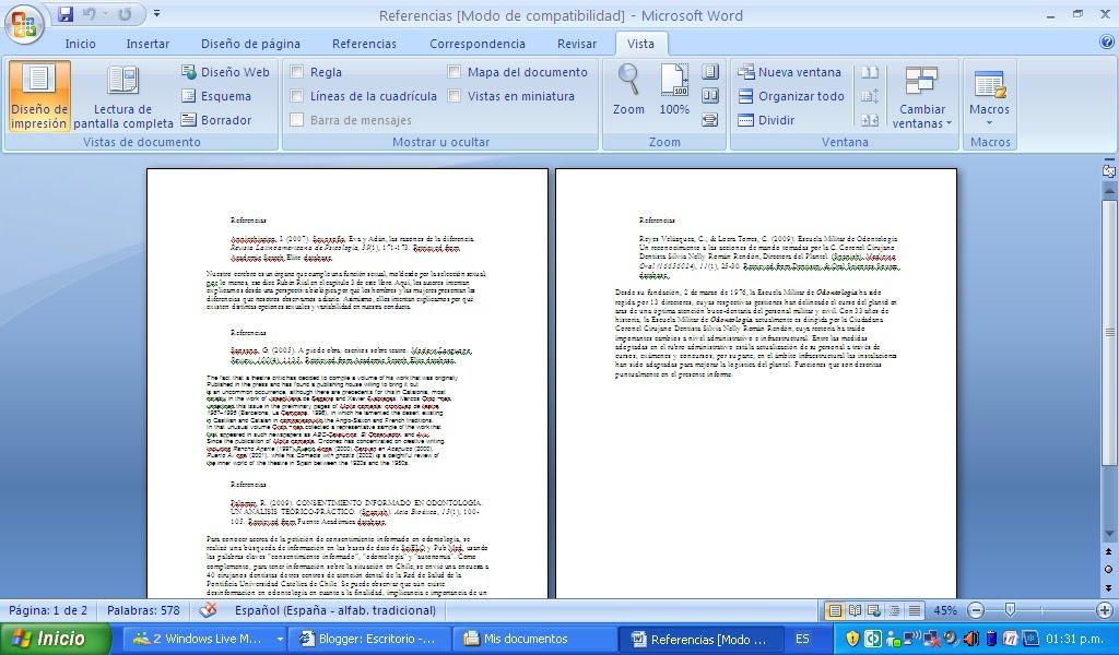 formato dbf ejemplo de ensayo con apa formato en