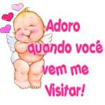 Adoro quando voce vem me visitar!!