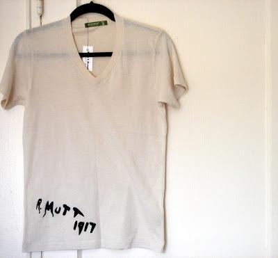 etsy readymade tshirt after marcel duchamp