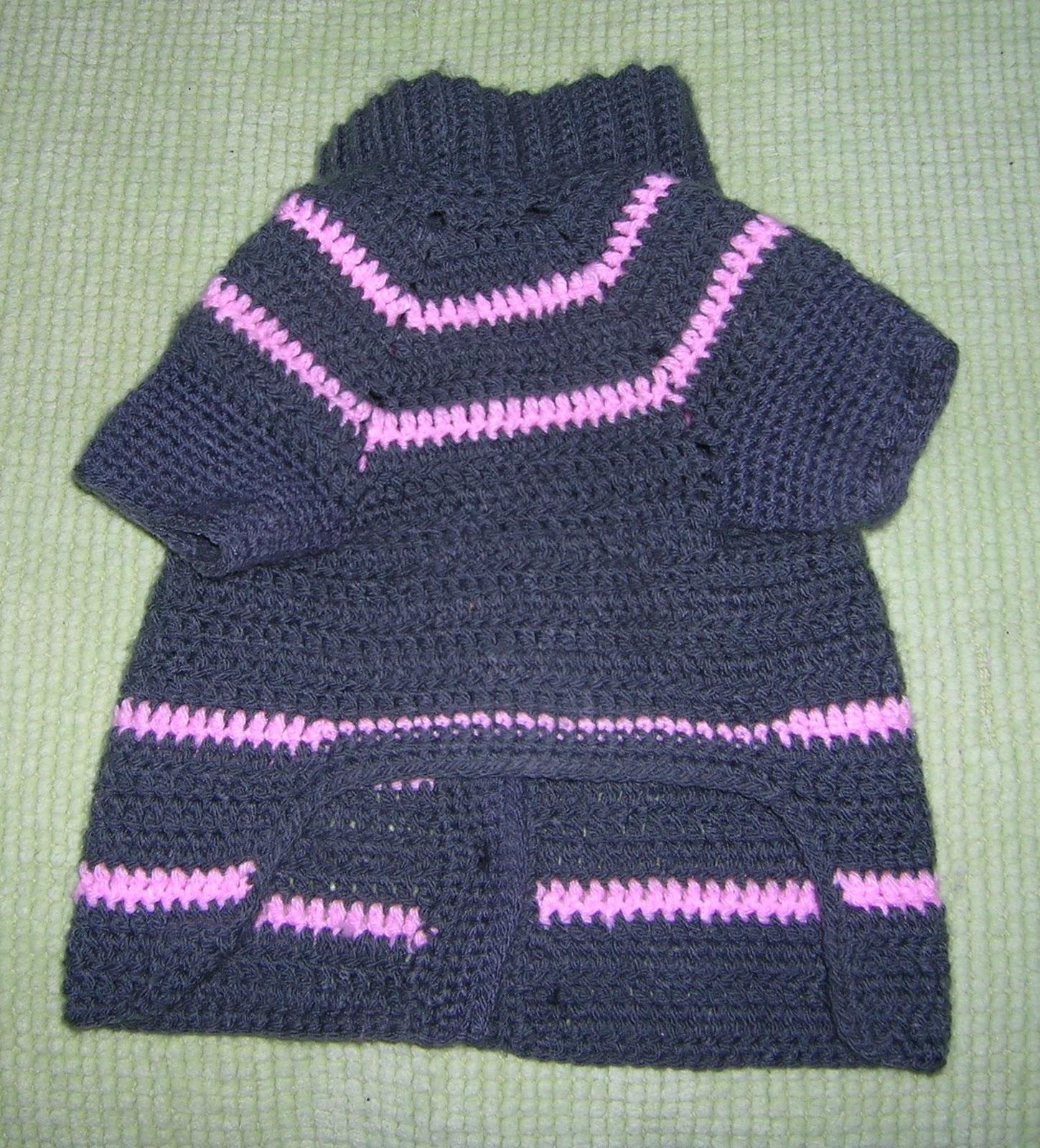 Sueter Crochet Para Perros - Sweater Grey