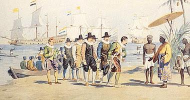 1596 Aankomst in Indië en klik met je muis op de tekening