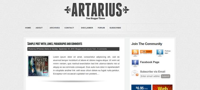 Plantilla Artarius