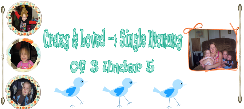 Crazy & Loved-->Single Mommy of 3 Under 5