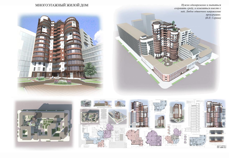 Многоэтажные дома проекты