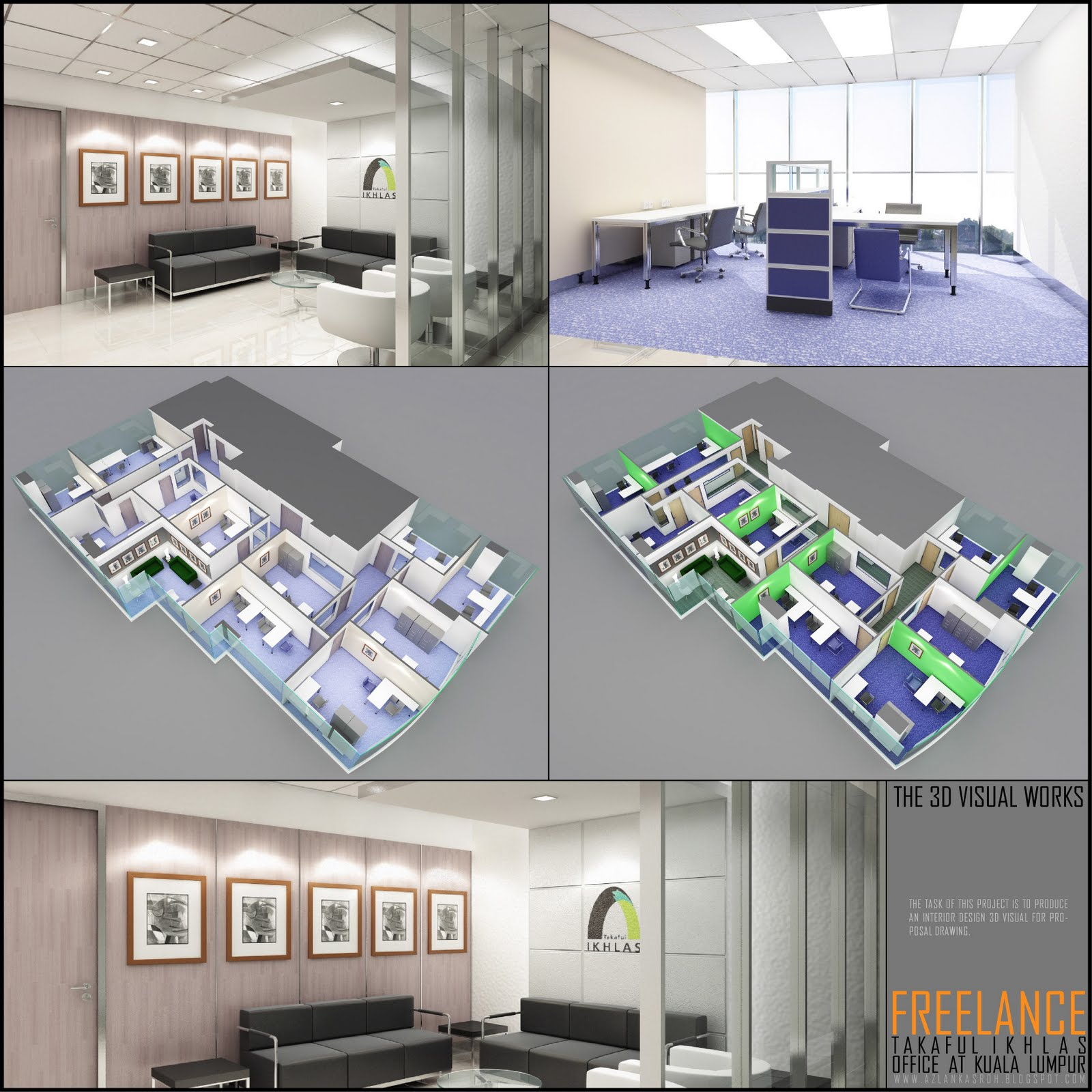 freelance project takaful ikhlas office - Interior Design Freelance Work