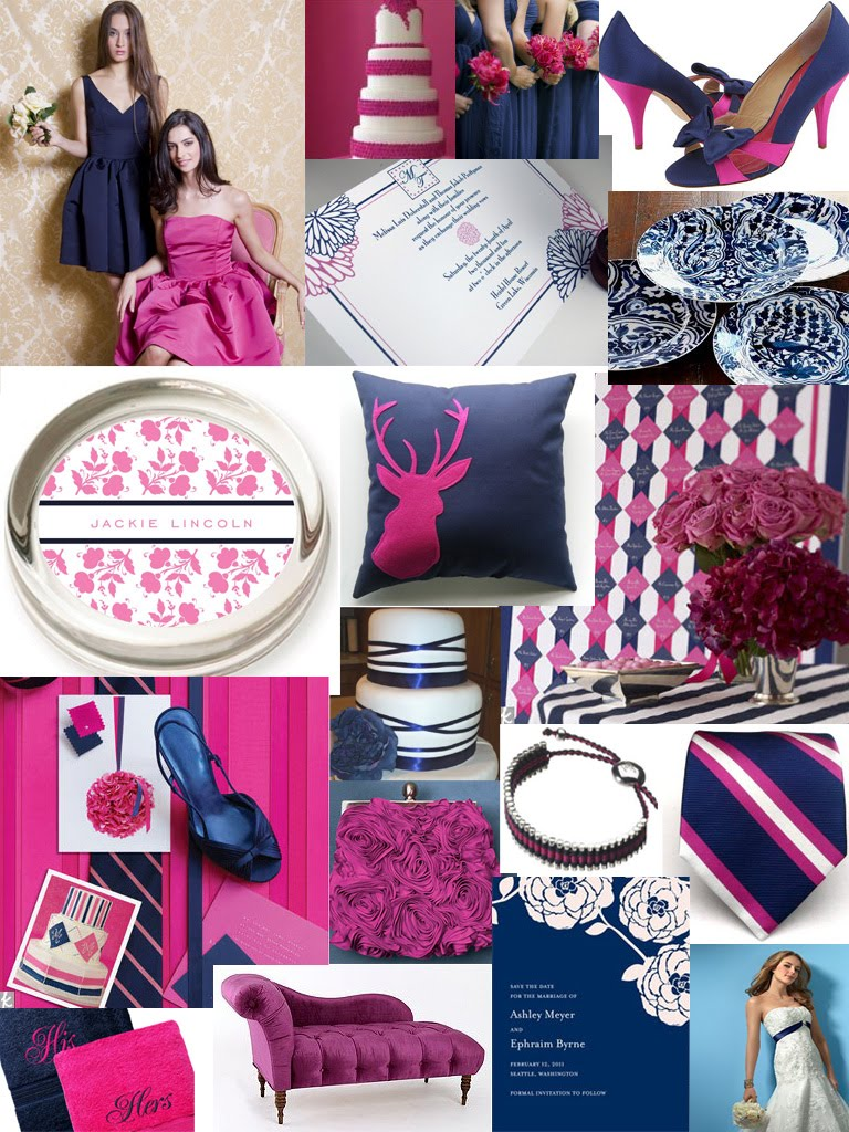_navy_fuchsia_hotpink_blue_wedding_color_inspiration_board_palatte