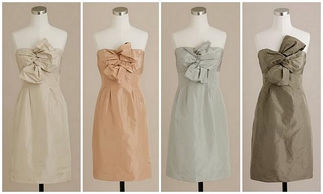Paper doll romance tips for the bride bridesmaid dresses for Different colored wedding dresses