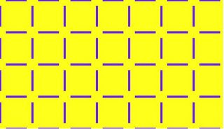 Eye tricks: Yellow Circles