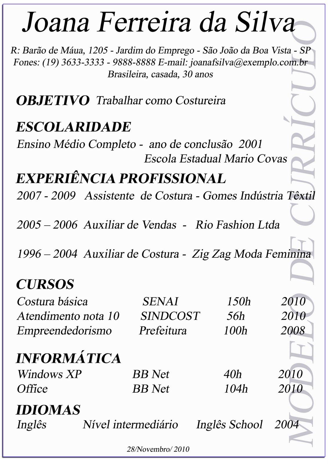 Professor Alexandre Custodio: Currículum Vitae