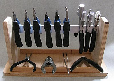 One Mans Journey in Jewelry Making Homemade Plier Rack