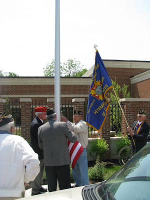 Flag Raising with the American Legion and Veterans of Foreign Wars