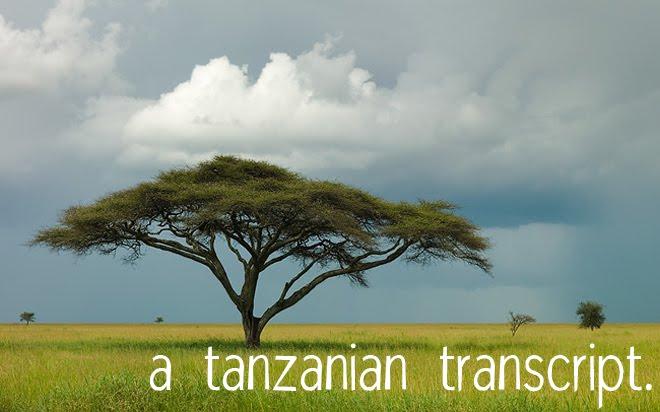 a tanzanian transcript