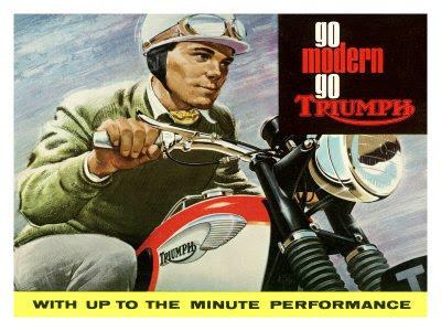 STRANDED KOSMONAUT Vintage Triumph Motorcycle Ads