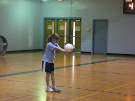 Me serving volleyball:)