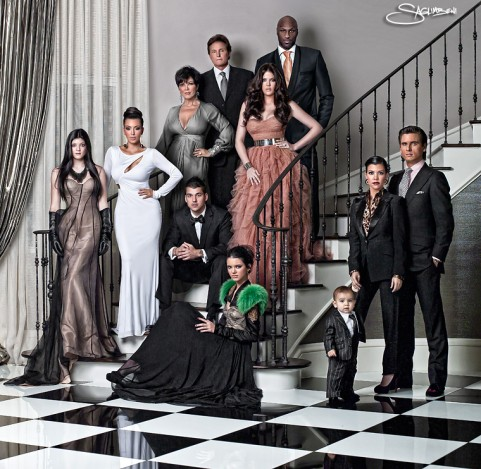 """Look at our 2010 family Kardashian Christmas Card,""."