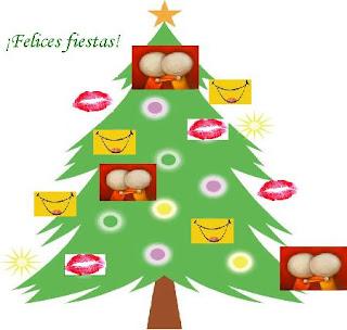 No es cualquier árbol como pueden ver está adornado con sonrisas besos abrazos y mis mejores deseos
