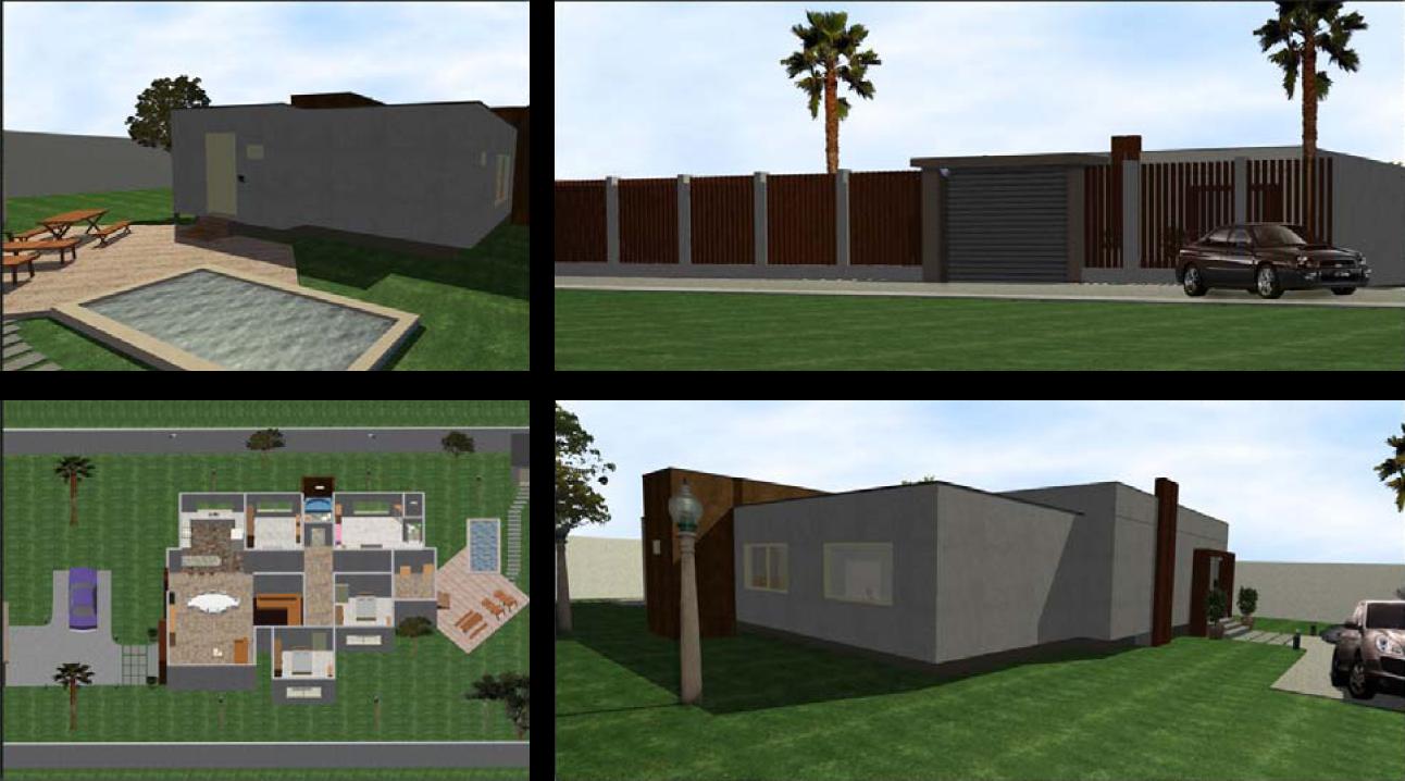 Proyectos desarrollados modelados en vector works for Casa moderna 8