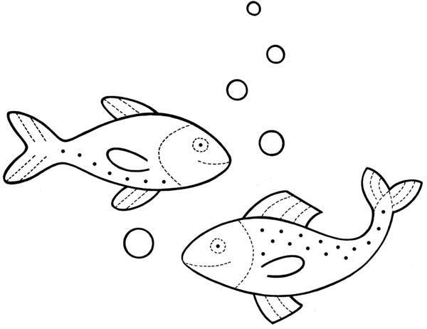 Großartig Ein Fisch Zwei Fische Malvorlagen Galerie - Framing ...