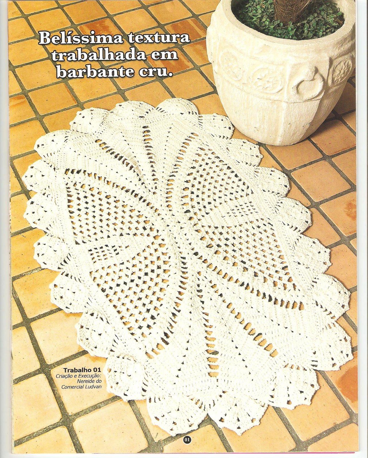 Схема коврика крючком овальный коврик
