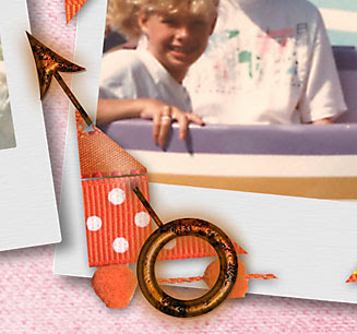 Scrapbook Layout Detail by Julie Ann Shahin