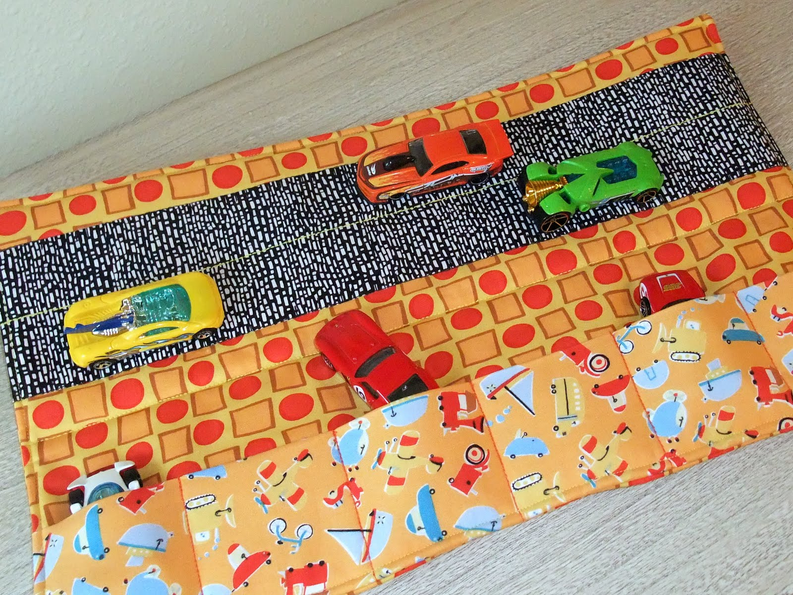 Sew A Toy Car Holder : Just another hang up lil boy car caddy