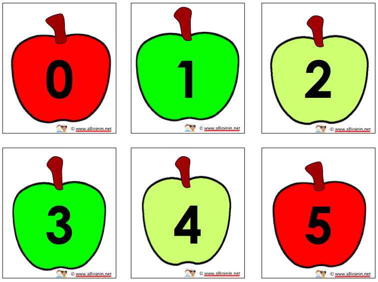 Apple Counting on Number Matching Activity 2