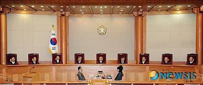헌재 재판정의 모습