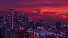 Seattle Rainier Sunset.