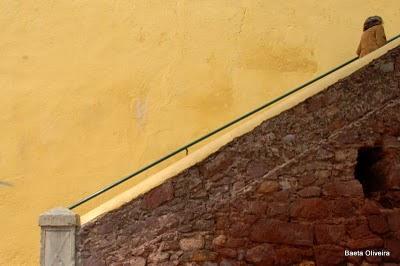 Escadaria que sobe do Largo do Muncípio até aos Paços do Concelho. Silves, Abril 2010