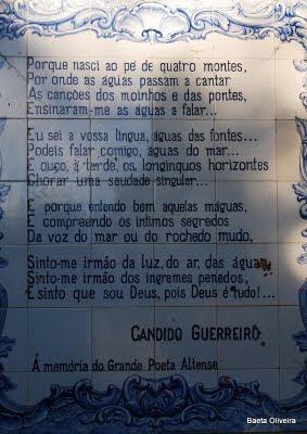Homenagem a Cândido Guerreiro, Alte. Foto de Novembro de 2008