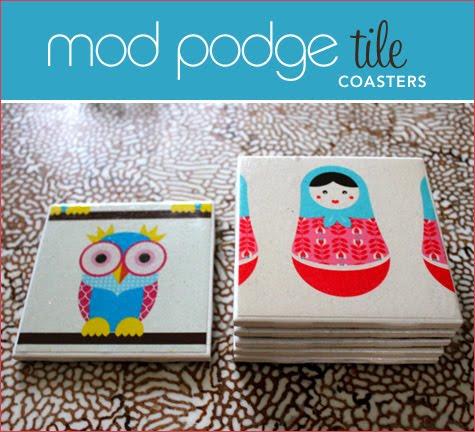 Green submarine diy mod podge tile coasters for Diy using mod podge