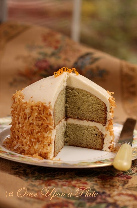 ... & Moist Banana Cake with Creamy Orange Frosting and Toasted Coconut