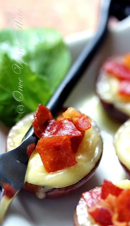 ... : Warm Camembert-Stuffed Baby Red Potato Skins with Crispy Prosciutto