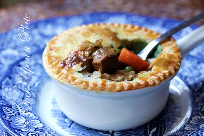 Once Upon a Plate: Individual Beef and Veggie Pot Pies