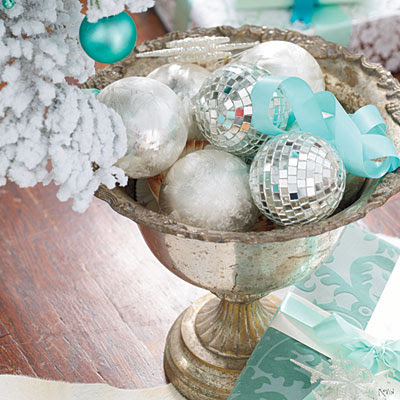 bowl ornaments l Turquoise Christmas Decorations  Oh My!!