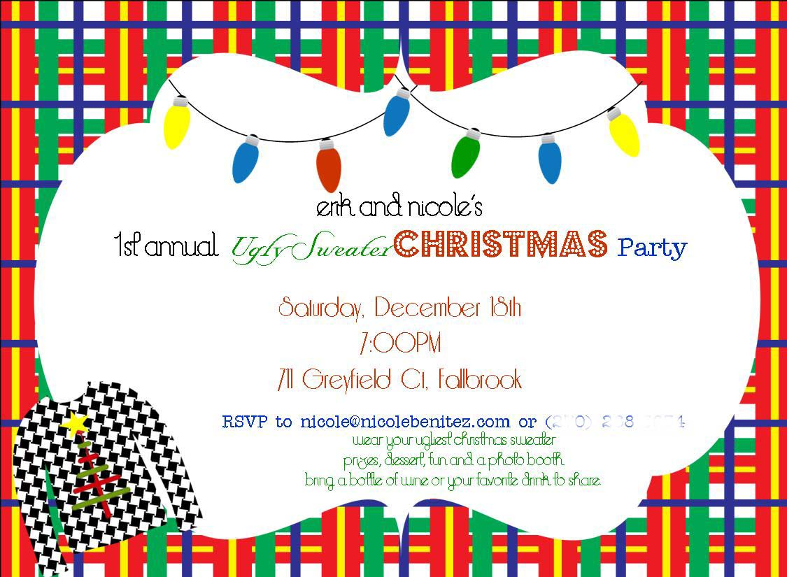 Ugly Sweater Invite Wording is perfect invitations template