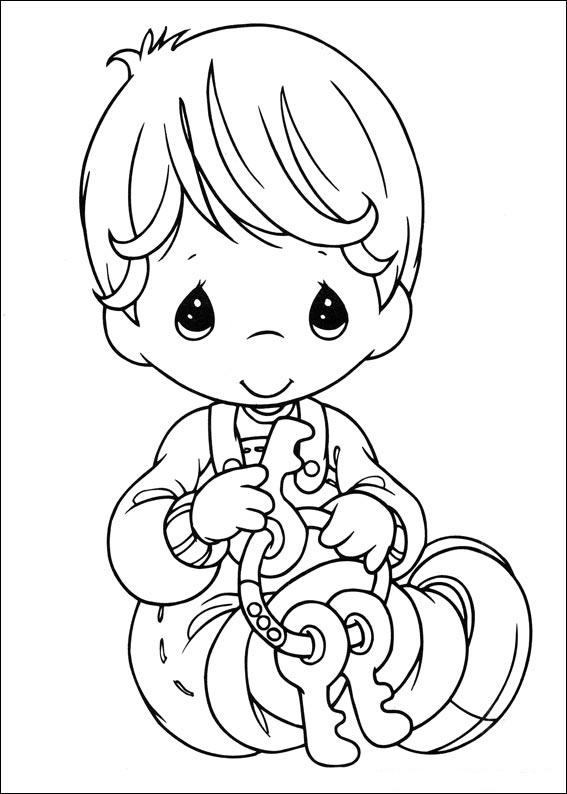 Precious Moments Boy Coloring Pages