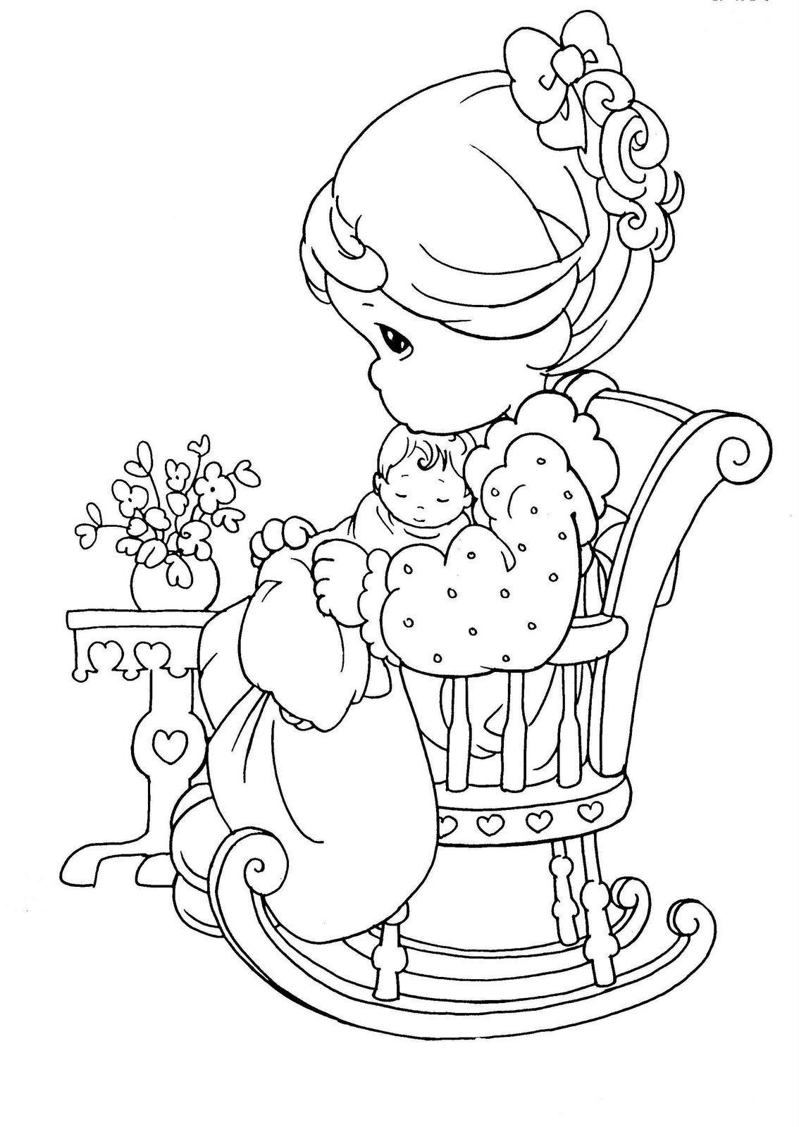 Preciosos Momentos: Dia de la Madre ~ Dibujos para Colorear Infantil