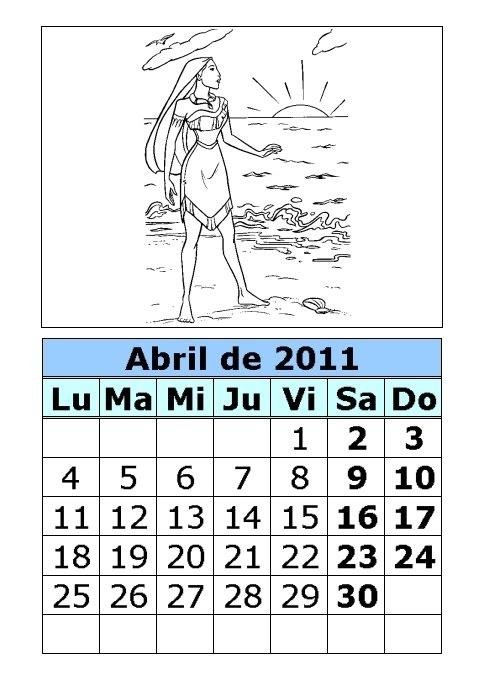 calendario 2011 abril. calendario 2011 abril.
