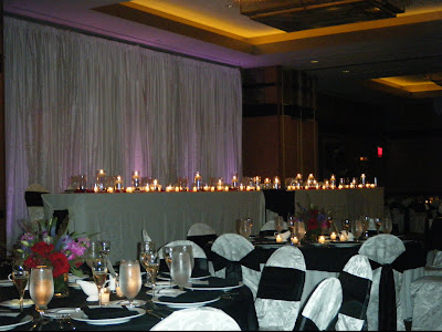My Black White Wedding by Candelight