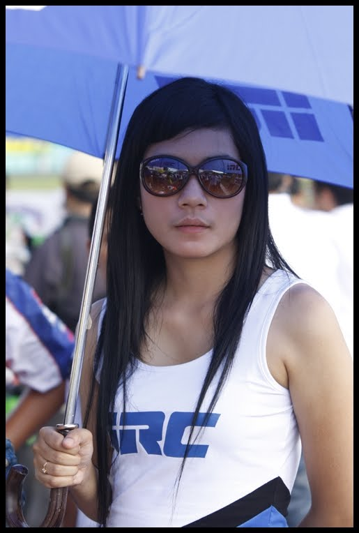 Umbrella Girl MotoGP 2014
