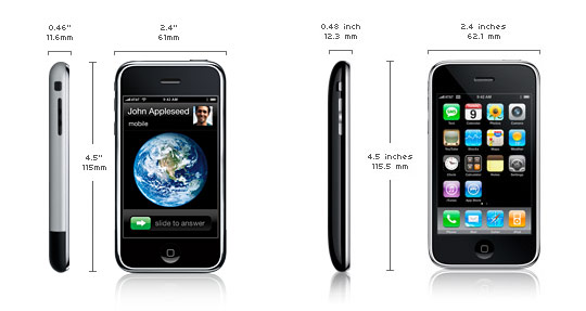 iPHONE2G 'VS' iPHONE 3G
