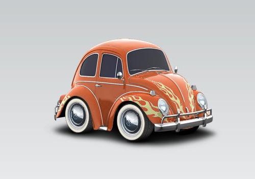 volkswagen beetle car town template. 1968 Volkswagen Beetle