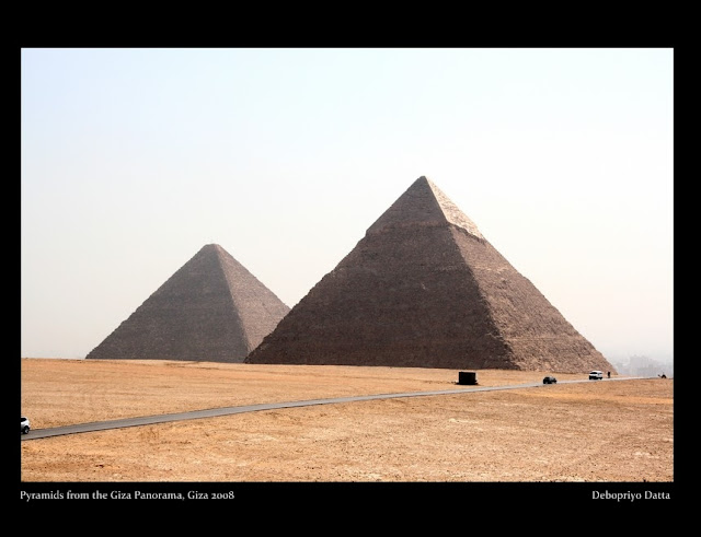 View of the two pyramids - Khufu & Khafre's