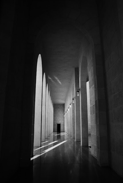 Al-Fateh Grand Mosque, Bahrain in B&W