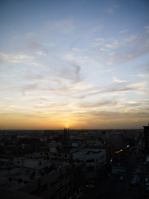 Sunset in Al-Jubail, Saudi Arabia