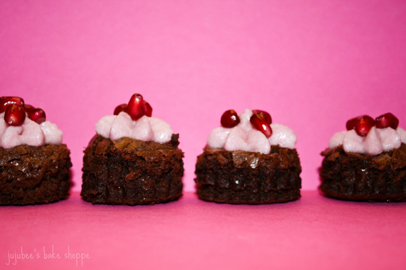 Jujubee's Bakery: Pomegranate Buttercream Brownies