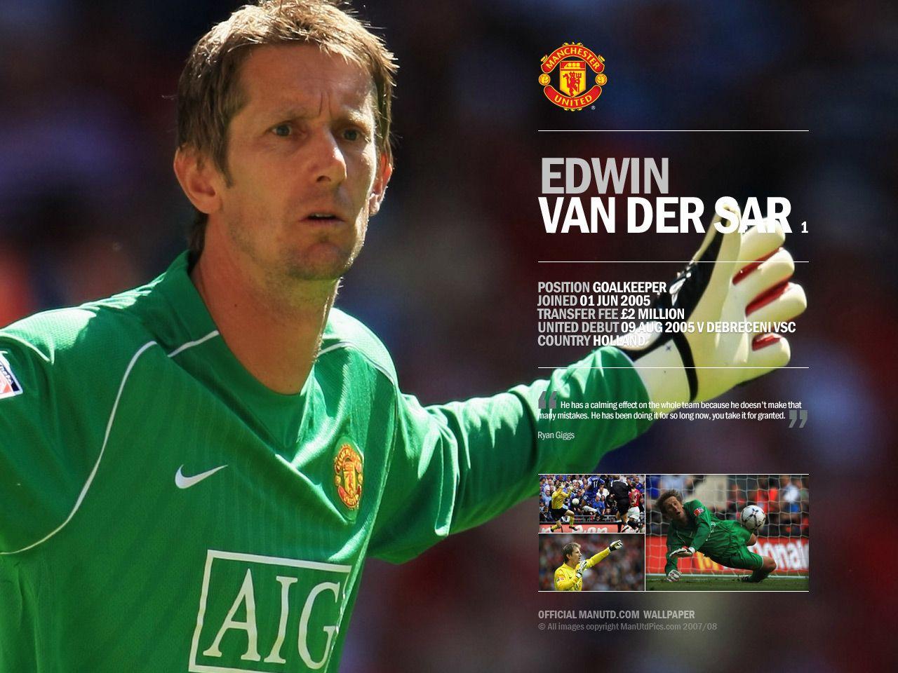Edwin van der Sar (born 29 October 1970 is a Dutch footballer who ...
