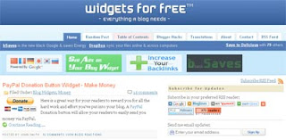 blogger widget for free